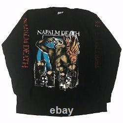 Vintage 90s Napalm Death Diatribes Liquid Blue Extremely Rare LS T Shirt XL 1996