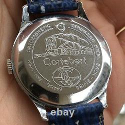 Vintage Cortebert Turkish Railways Officers Watch Amazing Dial Extremely Rare