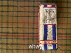 Vintage Extremely Rare Senate Pumpkin Pie Spice Cardboard Tin Red White Blue