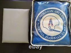 Vintage Pendleton Nfl Houston Oilers Stadium robe/ Blanket In Bag extremely rare