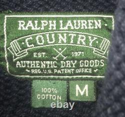Vintage Polo Ralph Lauren Indian head mock neck mint medium Extremely Rare