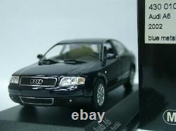 WOW EXTREMELY RARE Audi A6 C5 3.0 30V Saloon 2002 Facelift Blue 143 Minichamps