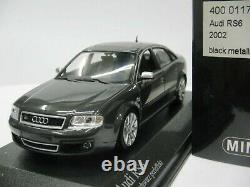 WOW EXTREMELY RARE Audi RS6 Saloon Quattro 2002 Pearl Black 143 Minichamps-RS4