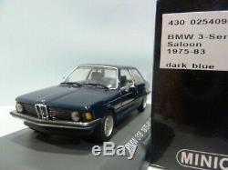 WOW EXTREMELY RARE BMW E21 318 Saloon 1975 D. Blue 143 Minichamps-323/E30/E36/M3