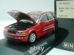 WOW EXTREMELY RARE BMW E46 328i Touring 1999 Red 143 Minichamps-GTR/M3-Spark