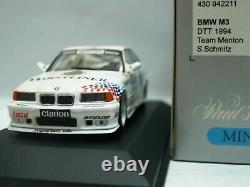 WOW EXTREMELY RARE BMW M3 E36 325i #11 Sb Schmitz DTT 1994 143 Minichamps-Spark