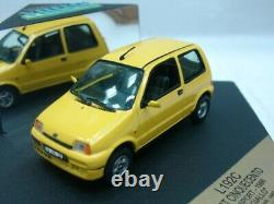 WOW EXTREMELY RARE Fiat Cinquecento 1.1 Sporting 1996 Yellow 143 Vitesse-Spark