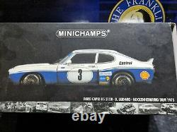 WOW EXTREMELY RARE Ford Capri RS3100 #3 Ludwig Winner DRM 1975 118 Minichamps