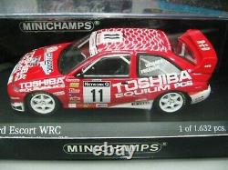 WOW EXTREMELY RARE Ford Escort RS Cosworth Vatanen RAC 1997 WRC 143 Minichamps