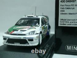 WOW EXTREMELY RARE Ford Focus RS WRC Martin 1st Catalunya 2004 143 Minichamps