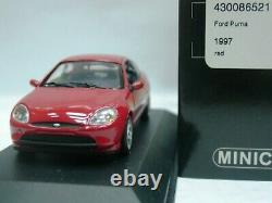 WOW EXTREMELY RARE Ford Puma 1.4 16V 1997 Red Silver 143 Minichamps-RS/GT/Focus