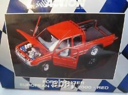 WOW EXTREMELY RARE Ford Ranger V6 4X4 Double Cab 2000 Red 118 Minichamps/Action