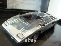 WOW EXTREMELY RARE Lamborghini Countach LP400 1974 Chrome 143 Minichamps-Espada