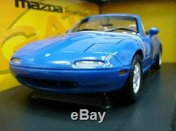 WOW EXTREMELY RARE Mazda MX5 Miata MkI Roadster 1997 RHD Blue 118 Gate-Auto Art