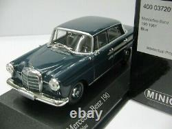 WOW EXTREMELY RARE Mercedes 190 Heckflosse 1961 W110 Blue 143 Minichamps-300
