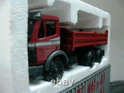 WOW EXTREMELY RARE Mercedes 2635K 6X4 Tipper Truck 1991 Red 143 NZG-Minichamps