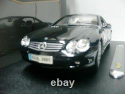 WOW EXTREMELY RARE Mercedes SL500 Coupe H. Top 2001 Black 36624K 118 Maisto-R230