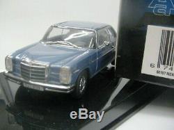 WOW EXTREMELY RARE Mercedes W115/8 280C Blue 143 Auto Art-200/W114/Minichamps