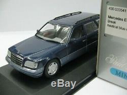 WOW EXTREMELY RARE Mercedes W124 220TE Break Nt. Blue 143 Minichamps-300/450/560