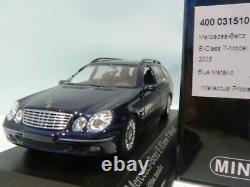 WOW EXTREMELY RARE Mercedes W211 E280T 2003 Break Blue 143 Minichamps-Spark-S