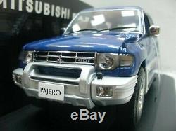 WOW EXTREMELY RARE Mitsubishi Pajero SUV LWB 4WD RHD 1998 Blue 118 Auto Art