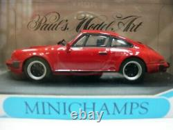 WOW EXTREMELY RARE Porsche 911 930 3.0 SC G-Model Coupe 1983 Red 143 Minichamps