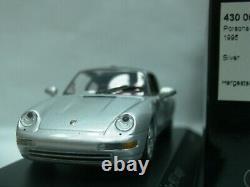 WOW EXTREMELY RARE Porsche 993 911 Carrera 2 Targa 1995 Silver m 143 Minichamps
