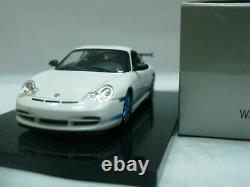 WOW EXTREMELY RARE Porsche 996 911 GT3 RS 2003 White/ Blue 143 Minichamps-Spark