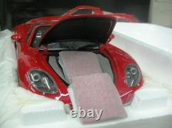 WOW EXTREMELY RARE Porsche Carrera GT Targa H. Top 2004 Red 118 Minichamps-Spark