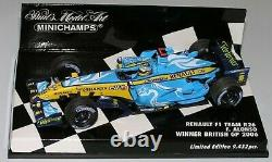 WOW EXTREMELY RARE Renault R26 Fer Alonso Winner British GP 2006 143 Minichamps