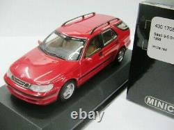 WOW EXTREMELY RARE Saab 9-5 Break 2.3T 1999 Red 143 Minichamps-900SE/9-3/Spark