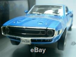 WOW EXTREMELY RARE Shelby Mustang GT500 428 Cobra Jet 1969 H. Blue118 RC2 ERTL