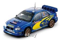 WOW EXTREMELY RARE Subaru Impreza 2004 WRC Solberg Wales 118 Sun Star-Auto Art