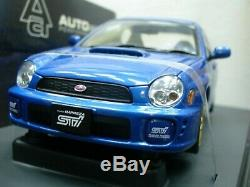 WOW EXTREMELY RARE Subaru Impreza WRX STi 2001 RHD Blue m 118 Auto Art-WRC/2006