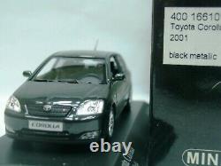 WOW EXTREMELY RARE Toyota Corolla IX Hatchback 3d 16V 2001 Black 143 Minichamps