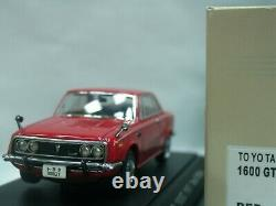 WOW EXTREMELY RARE Toyota Corona RT55 1600GT RHD 1967 Red 143 Ebbro-DISM