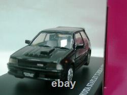 WOW EXTREMELY RARE Toyota Starlet Turbo-S EP71 RHD 1986 Black 143 Aoshima-DISM