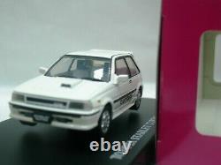 WOW EXTREMELY RARE Toyota Starlet Turbo-S EP71 RHD 1986 White 143 Aoshima-DISM