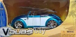 WOW EXTREMELY RARE VW Beetle Hebmuller Tuning Cabriolet 1949 Blue/Whit 124 Jada