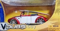 WOW EXTREMELY RARE VW Beetle Hebmuller Tuning Cabriolet 1949 Red/White 124 Jada