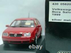 WOW EXTREMELY RARE VW Bora Saloon 1.8 4WD 20V 1999 Red 143 Minichamps-Golf/GTi