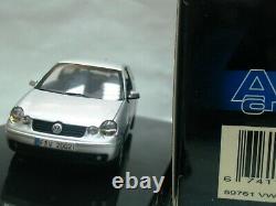 WOW EXTREMELY RARE VW Polo TDi Turbo Mk4 2002 Silver PE 143 Auto Art-Minichamps