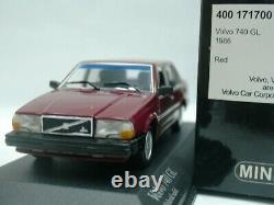 WOW EXTREMELY RARE Volvo 740 GL Sedan 2.3L 1986 D. Red 143 Minichamps-240/850/ES