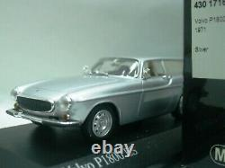 WOW EXTREMELY RARE Volvo P1800 ES Break 1971 Silver 143 Minichamps-Spark/ 850/S