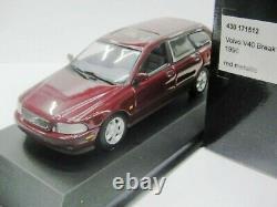 WOW EXTREMELY RARE Volvo V40 Break 2.0 16V 1996 D. Red 143 Minichamps-850/V70/ES