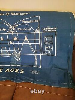 Watchtower Blue Cloth Chart Plan of The Ages extremely rare IBSA C T Russell