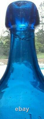 'extremely Rare'' A & L Chicago ILL / Iron Pontiled-cobalt-blue Soda